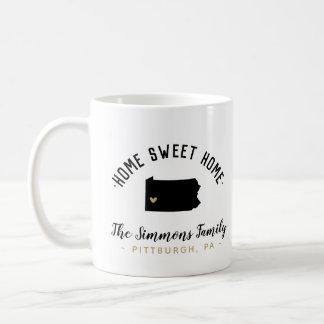 Pennsylvania Home Sweet Home Family Monogram Mug