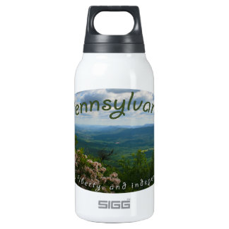 Pennsylvania liberty virtue independence insulated water bottle