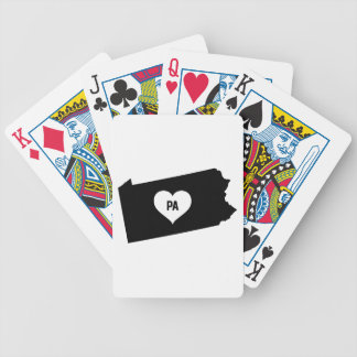 Pennsylvania Love Bicycle Playing Cards