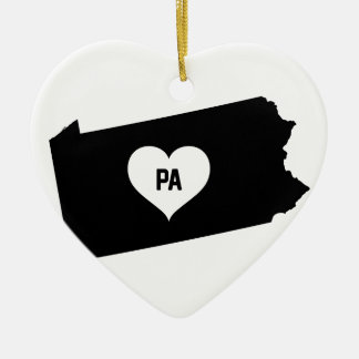 Pennsylvania Love Ceramic Ornament