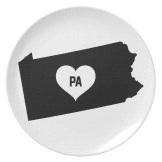 Pennsylvania Love Plate