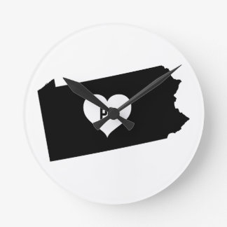 Pennsylvania Love Round Clock
