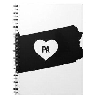 Pennsylvania Love Spiral Notebook