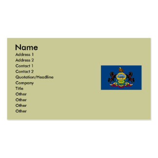 Pennsylvania Map and State Flag Double-Sided Standard Business Cards (Pack Of 100)