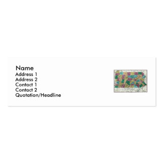Pennsylvania Map and State Flag Pack Of Skinny Business Cards