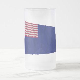 Pennsylvania Navy Flag Frosted Glass Beer Mug