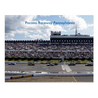 Pennsylvania Pococo Raceway Postcard