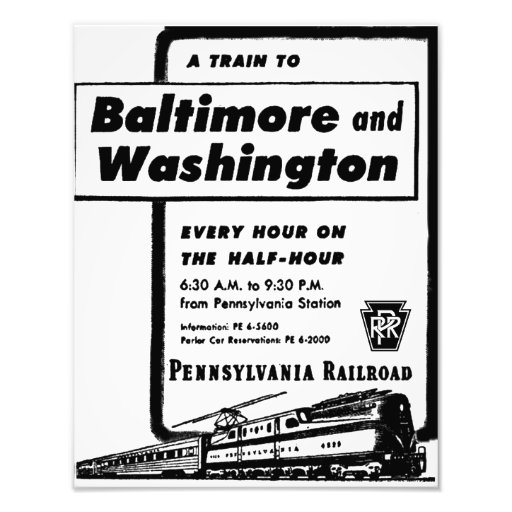 Pennsylvania Railroad Hourly Trains 1948 Kodak Photograph