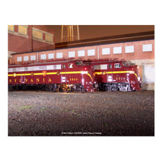 Pennsylvania Railroad (JTFS)Night Photo Shoot Postcard