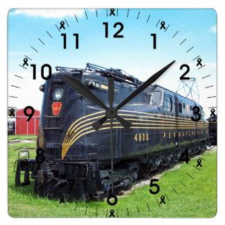 Pennsylvania Railroad Locomotive GG-1 #4800 Photo Square Wall Clock