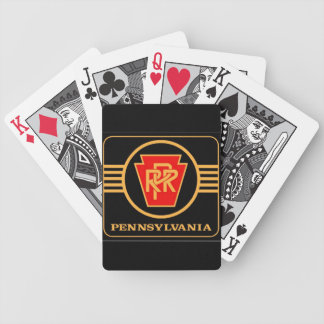 Pennsylvania Railroad Logo, Black & Gold Bicycle Playing Cards