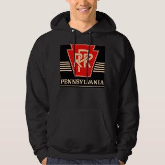 Pennsylvania Railroad Logo Black & Gold Hoodie