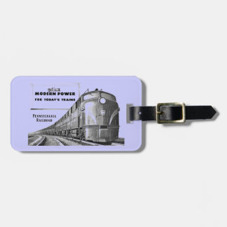 Pennsylvania Railroad Modern Train Power Bag Tag