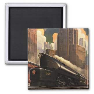Pennsylvania Railroad Poster Magnet