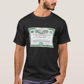 Pennsylvania Railroad Stock Certificate T-Shirt