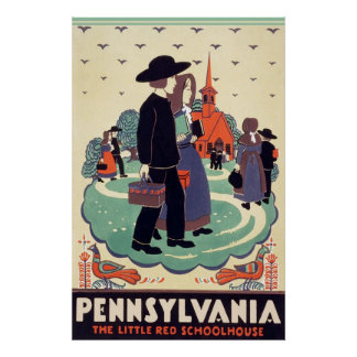 Pennsylvania Railroad The Little Red Schoolhouse Poster