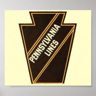 Pennsylvania Railroad Vintage Logo  Poster