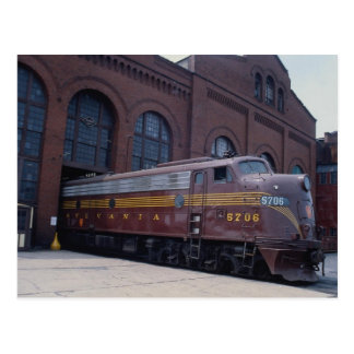 Pennsylvania RR, EMD E-8 restored at Reading, PA 1 Postcard