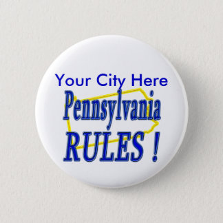 Pennsylvania Rules ! 2 Inch Round Button