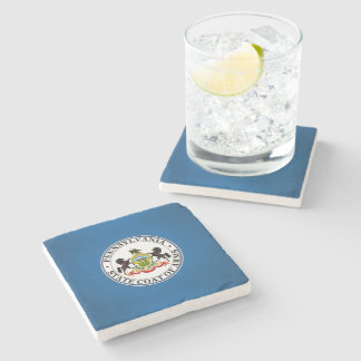 Pennsylvania seal, American state seal Stone Coaster