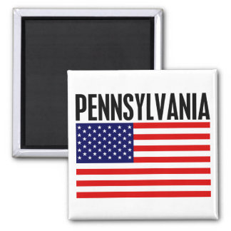 Pennsylvania, Stars and Stripes Magnet