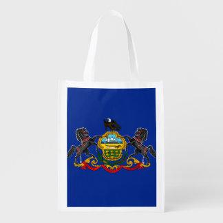 Pennsylvania State Flag Design Grocery Bag