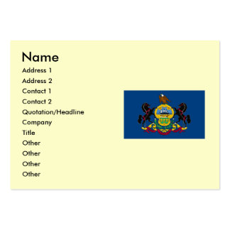Pennsylvania State Flag Large Business Card