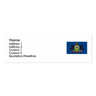Pennsylvania State Flag Mini Business Card