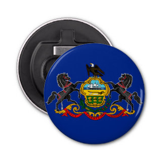 Pennsylvania state flag usa united america symbol bottle opener