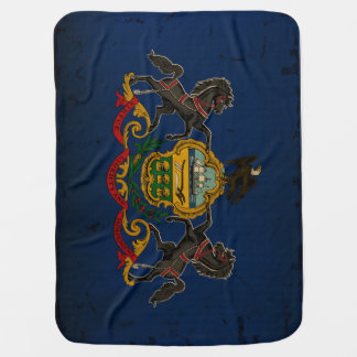 Pennsylvania State Flag VINTAGE Baby Blanket