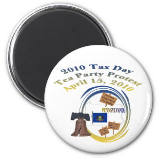 Pennsylvania Tax Day Tea Party Protest 2 Inch Round Magnet