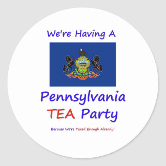 Pennsylvania TEA Party - Taxed Enough Already! Round Sticker