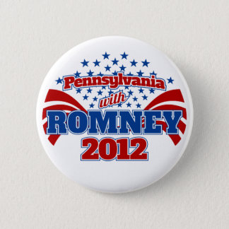 Pennsylvania with Romney 2012 2 Inch Round Button