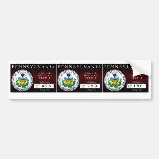 Pennsylvania Zombie Hunting Permit Bumper Sticker