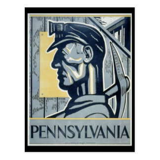 Pennsylvanian Coal Miner Postcard