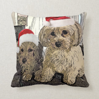 Penny and Copper Christmas Pillow