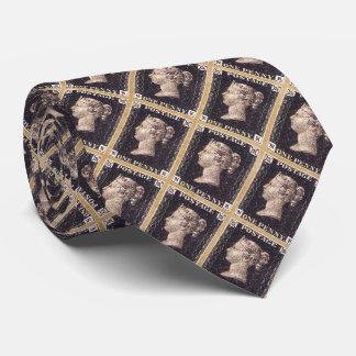 Penny Black Postage Stamp Tie