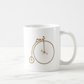 Penny-farthing high wheel bicycle coffee mug