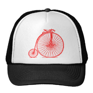 Penny Farthing - Red Trucker Hat