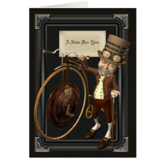 Penny Farthing Steampunk Notecards Card