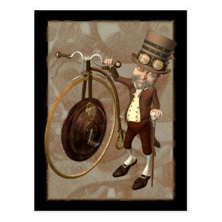 Penny Farthing Steampunk Postcard