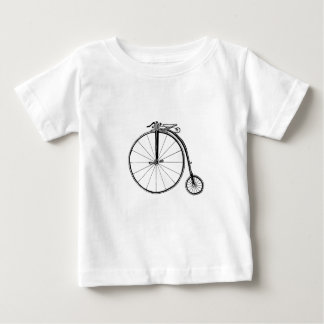 Penny Farthing Vintage Bicycle Illustration Baby T-Shirt