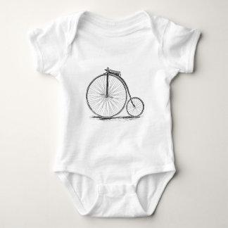 Penny Farthing Vintage High-Wheel Bicycle Baby Bodysuit