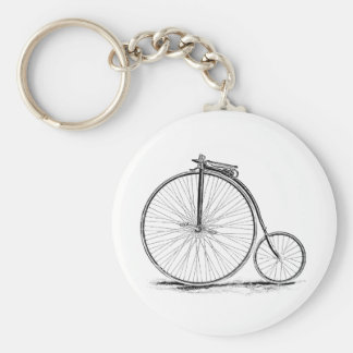 Penny Farthing Vintage High-Wheel Bicycle Basic Round Button Keychain