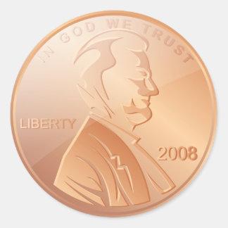 Penny Round Sticker