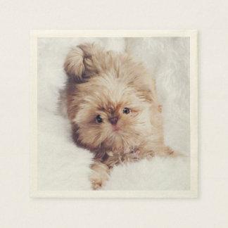 Penny the orange liver Shih Tzu puppy napkins Disposable Napkins