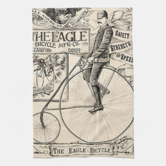 Pennyfarthing Old' Timey Victorian Bicycle Ad Kitchen Towel