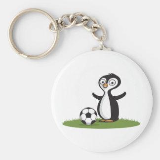 Penquin Soccer Keychain