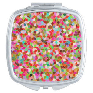 Penrose Tile Pattern Compact Mirror