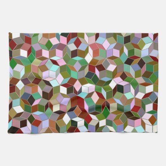 Penrose Tiling Kitchen Towel, Dark Neutral Colours Kitchen Towels